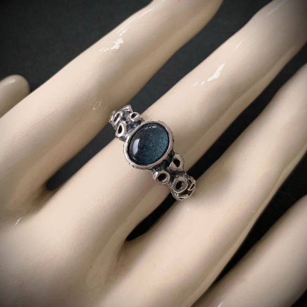 Atlantis Ring - Size 6.5 - Moss Aquamarine - Ready to Send