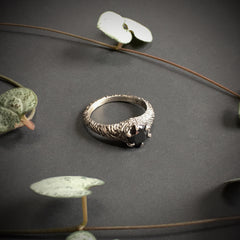 Forest Nymph Ring - size 9.25 - Black CZ - Ready to Send