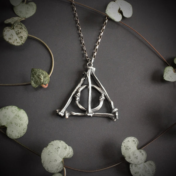 Deathly Hallows Large Bone Pendant