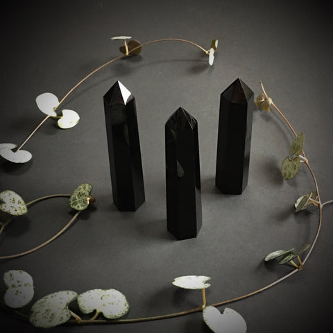 Black Obsidian Obelisk Point