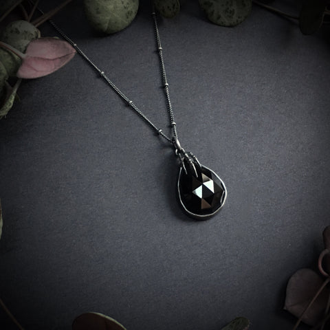 Eyrie Pendant - Onyx - 18 inch - Ready to Send