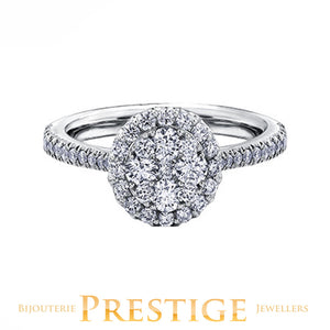 ENGAGEMENT RING 14KT WHITE GOLD 0.50CT TDW