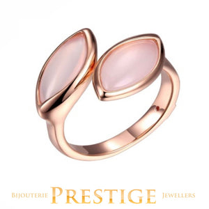 ELLE BLINK GENUINE DYED PINK CHALCEDONY RING - MULTIPLE SIZES