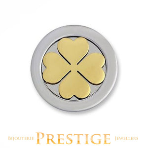 MI-MONEDA 3D CLOVER STAINLESS STEEL ONE SIDED COIN - MULTIPLE SIZES