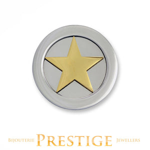 MI-MONEDA 3D STAR STAINLESS STEEL ONE SIDED COIN - MULTIPLE SIZES