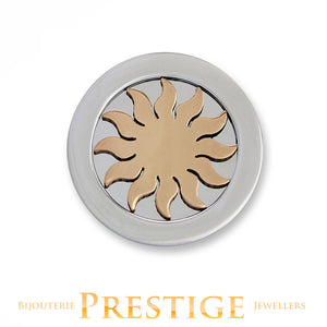 MI-MONEDA 3D SUN STAINLESS STEEL ONE SIDED COIN - MULTIPLE SIZES