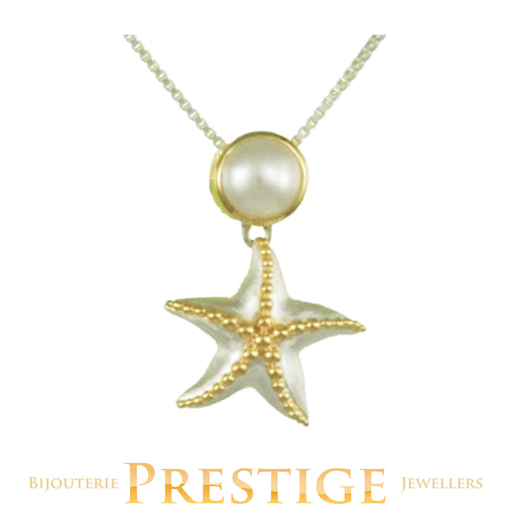 MICHOU SILVER & 22KT VERMEIL STARFISH NECKLACE