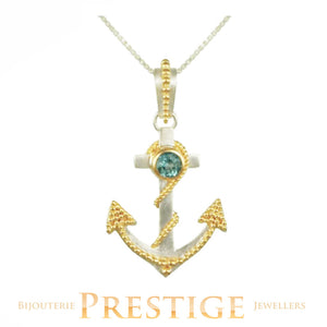 MICHOU SILVER & 22KT VERMEIL ANCHOR NECKLACE