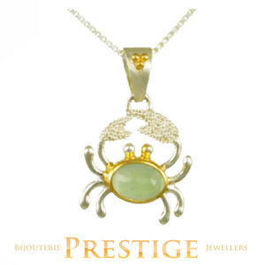 MICHOU SILVER & 22KT VERMEIL CRAB NECKLACE