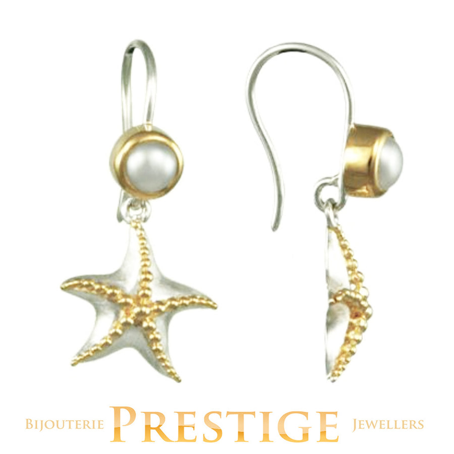 MICHOU SILVER & 22KT VERMEIL STARFISH EARRINGS