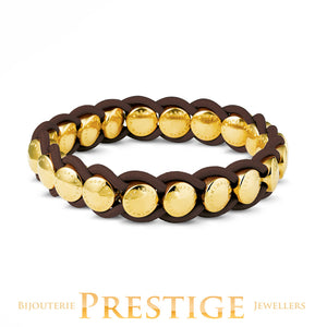 MIMONEDA VALENCIA BRACELET - BROWN GOLD PLATED
