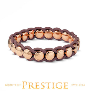 MIMONEDA VALENCIA BRACELET - TAUPE ROSEGOLD PLATED