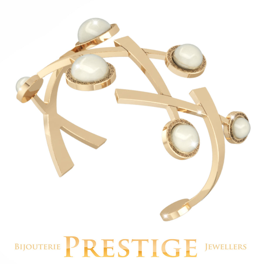 REBECCA TRILOGY CUFF WITH PEARLS