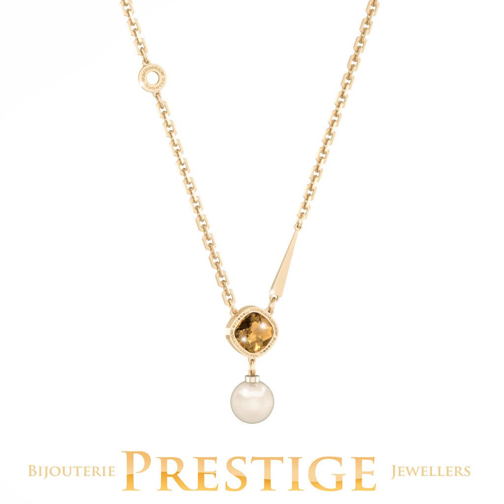 REBECCA TRILOGY NECKLACE WITH PEARL & SWAROVSKI CRYSTAL