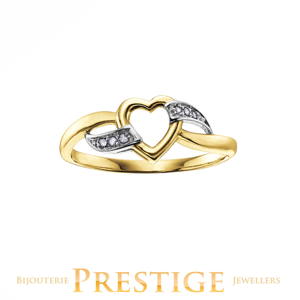 LADIES HEART RING 10KT GOLD