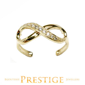 10KT GOLD TOE RING - INFINITY