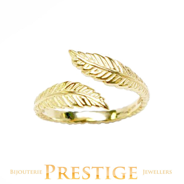 10KT GOLD TOE RING - FEATHER