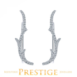 GABRIEL NY DIAMOND EARCUFFS 14KT GOLD