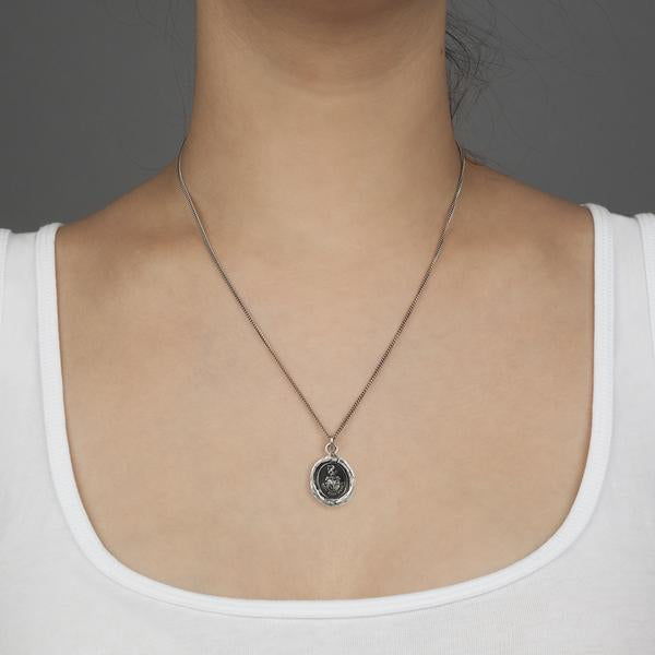 COURAGE TO HOPE PYRRHA TALISMAN NECKLACE