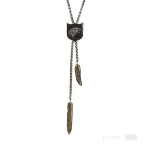 PYRRHA HOUSE OF STARK SHIELD NECKLACE