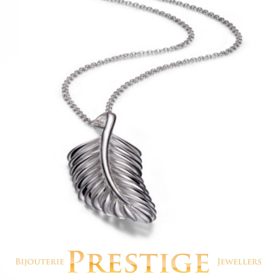 ELLE PLUME  FEATHER LONG NECKLACE 28+2""