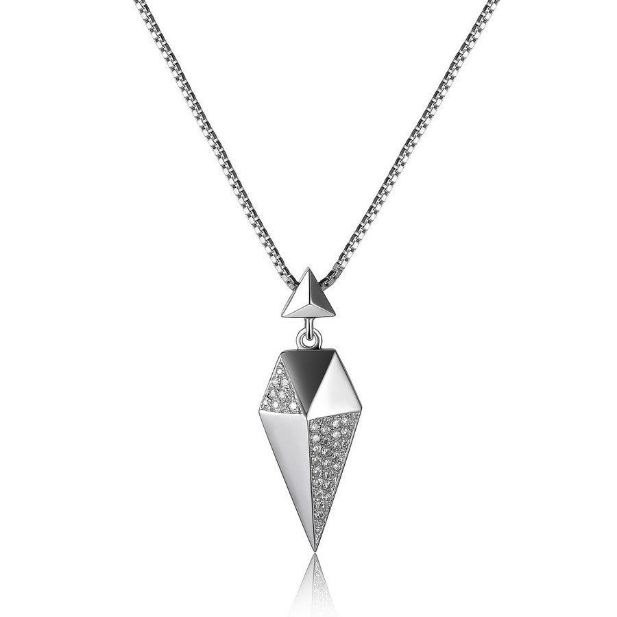 ELLE STILETTO SMALL CZ NECKLACE 16+2""