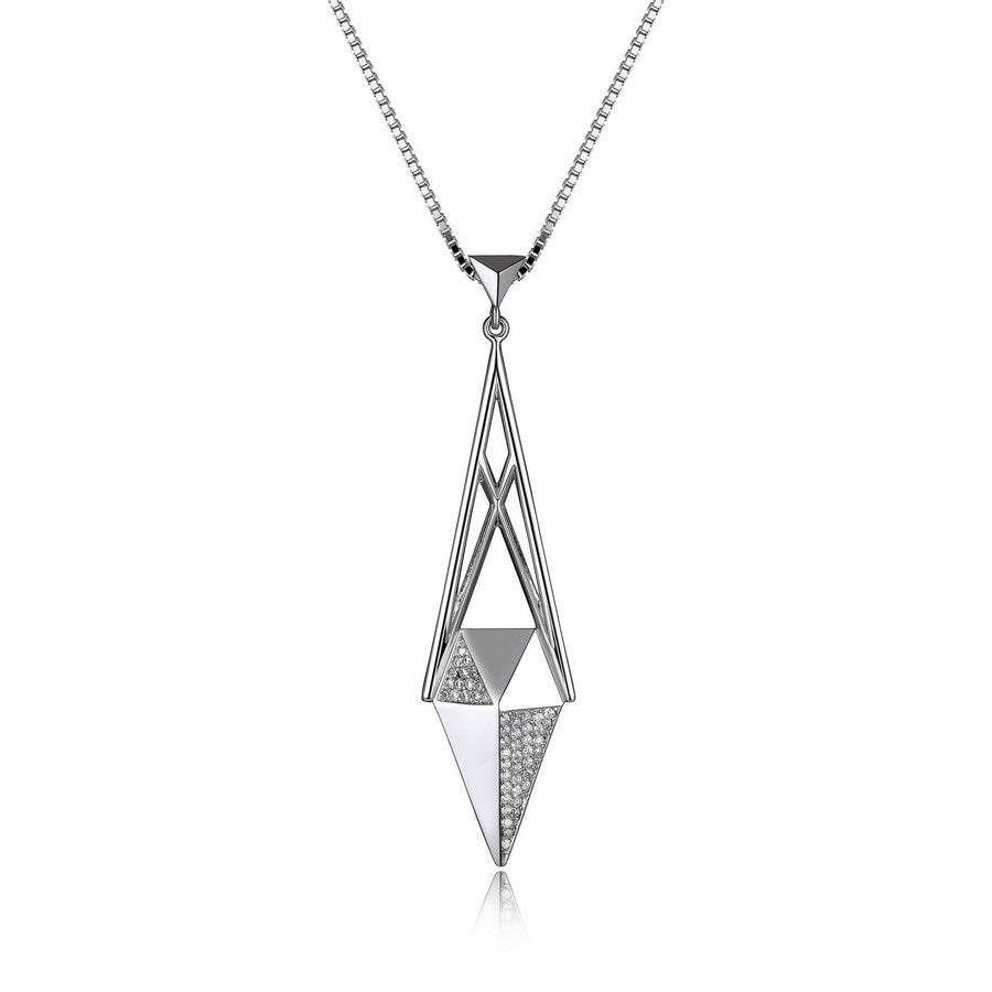 ELLE STILETTO LONG CZ NECKLACE 28+2""