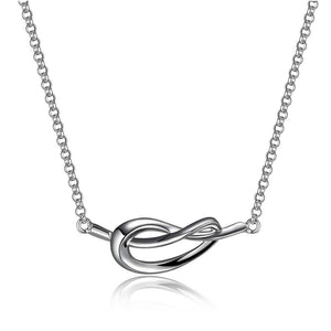 ETERNITY LOVE KNOT 26MM NECKLACE 16+2""