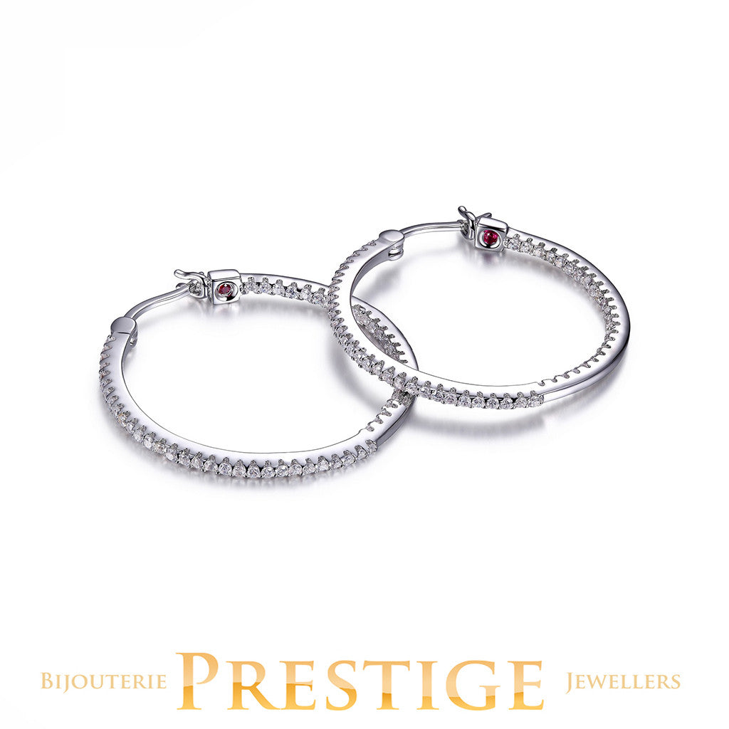 ELLE Rodeo Drive In & Out CZ - 30mm Hoops