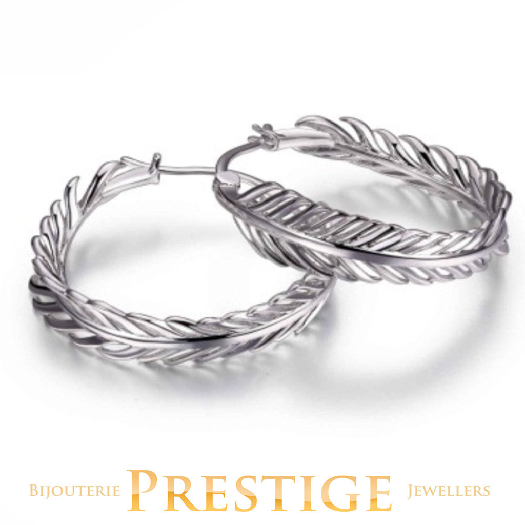 ELLE PLUME FEATHER HOOPS