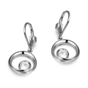 ETERNITY CIRCLE 15MM LEVERBACK EARRINGS