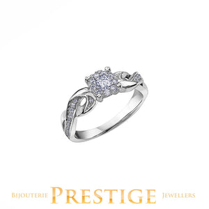 Engagement Ring 10KT White Gold