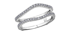 Ladies 14 Karat White Gold Diamond (0.34TDW) Curved Jacket