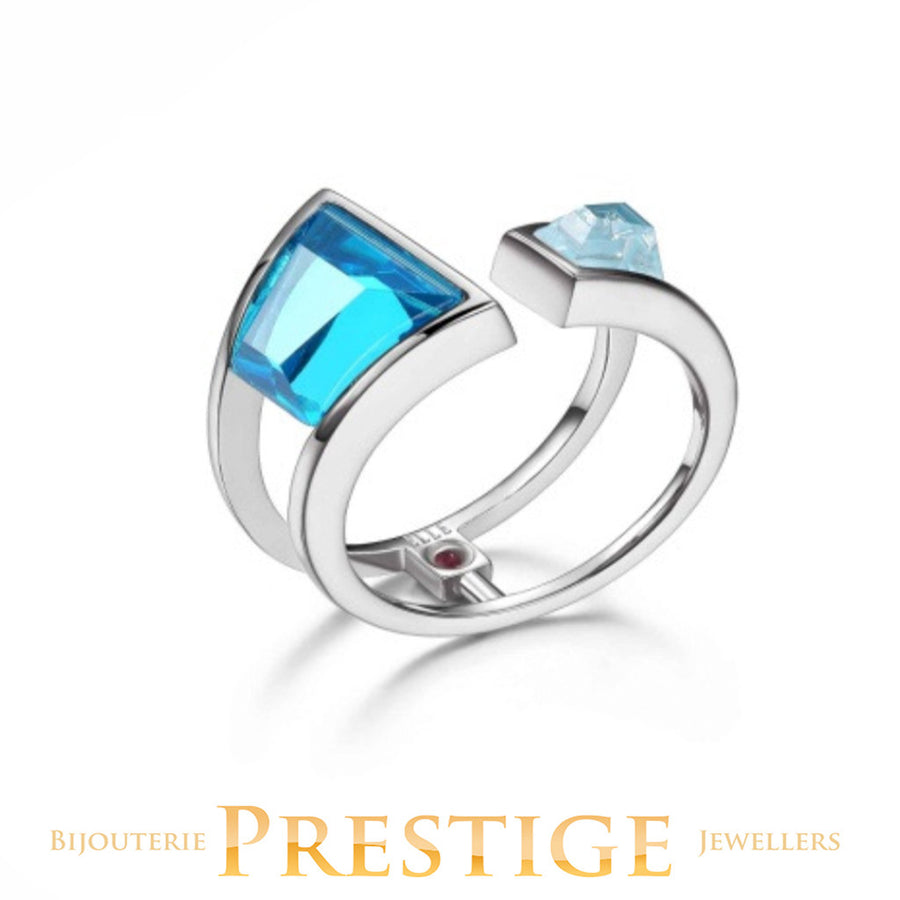 ELLE PARADOX BLUE CZ OPEN RING - MULTIPLE SIZES
