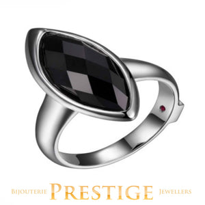 ELLE BLINK GENUINE BLACK AGATE RING - MULTIPLE SIZES