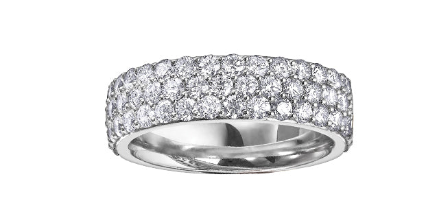 Ladies 14 Karat White Gold 4.1mm Band Diamond (0.75TDW) Micro Pavé