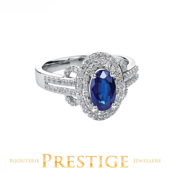 Sapphire 10KT White Gold Ring