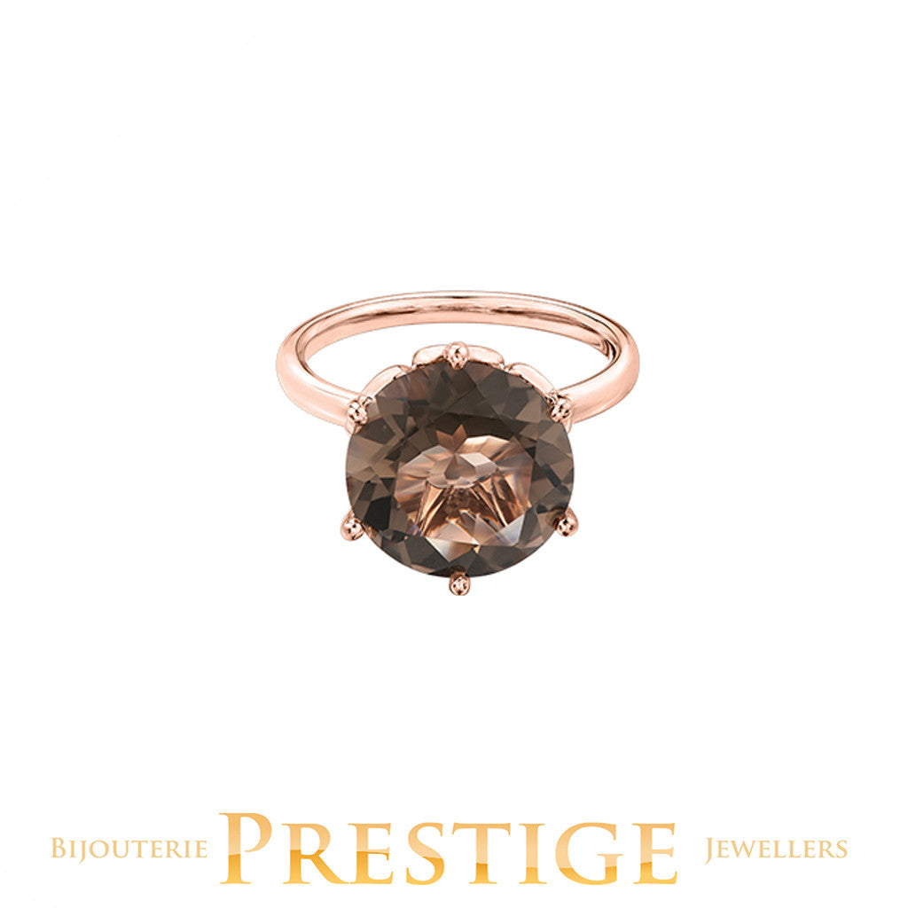 NATURAL ROUND 12MM GEM ROSE GOLD RING - VARIOUS OPTIONS