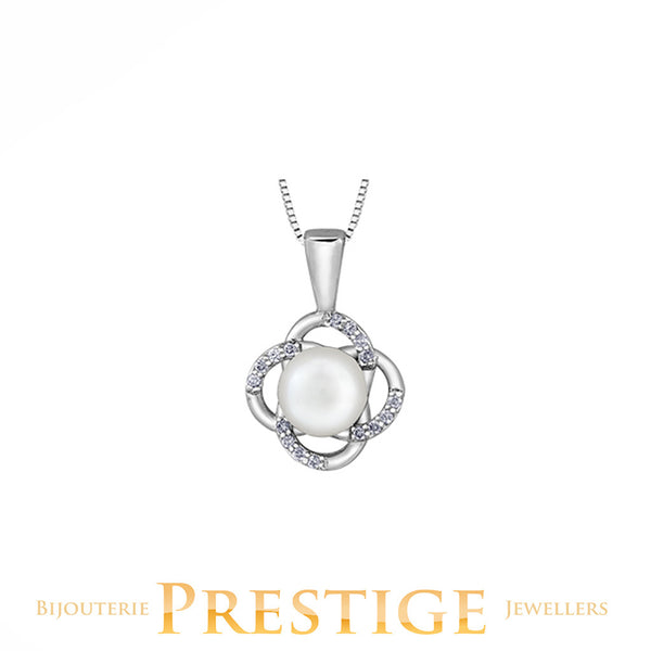 CULTURED PEARL PENDANT 10KT WHITE GOLD
