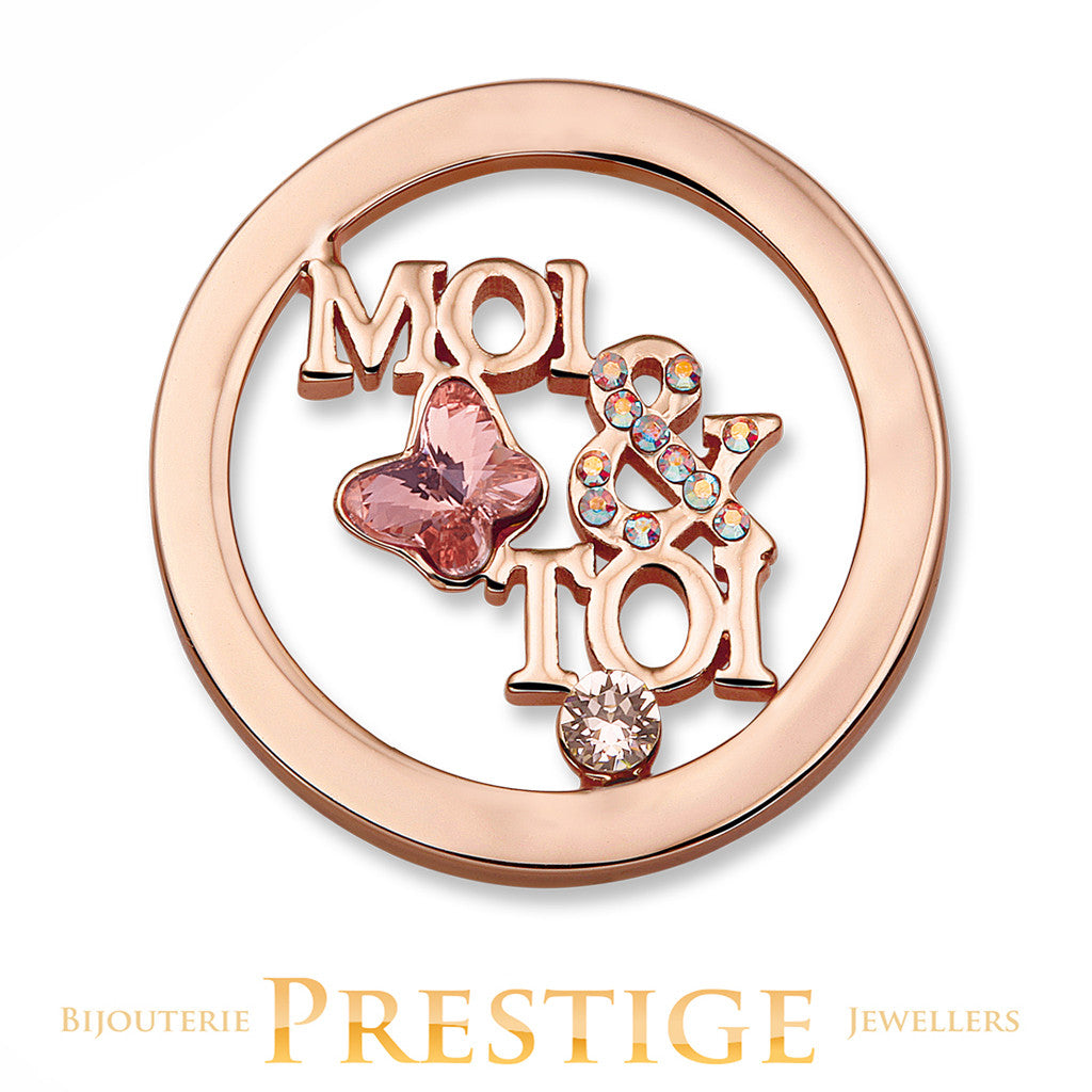 MI-MONEDA MOI & TOI DISC STAINLESS STEEL ONE SIDED COIN - SMALL