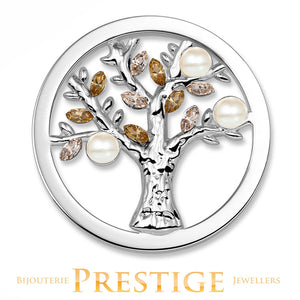 MI-MONEDA TREE STAINLESS STEEL ONE SIDED COIN - LARGE