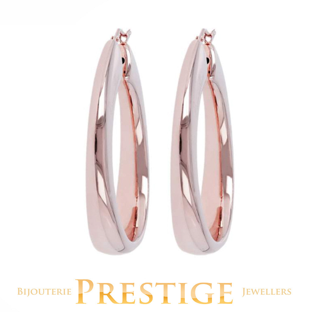 BRONZALLURE SHINY HOOP EARRINGS