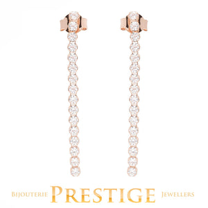 BRONZALLURE DANGLE CZ EARRINGS