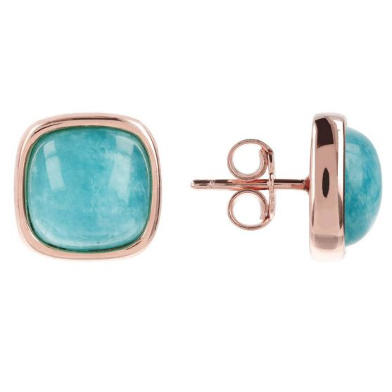 BRONZALLURE AMAZONITE POST EARRINGS