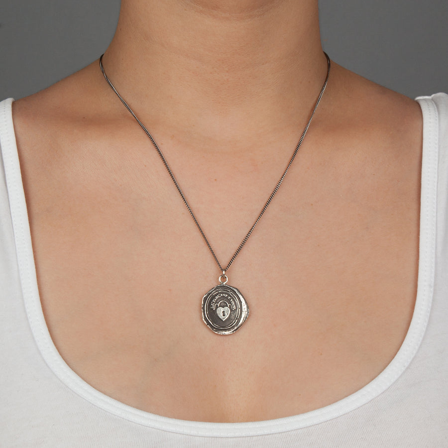 PYRRHA HEART LOCK TALISMAN NECKLACE