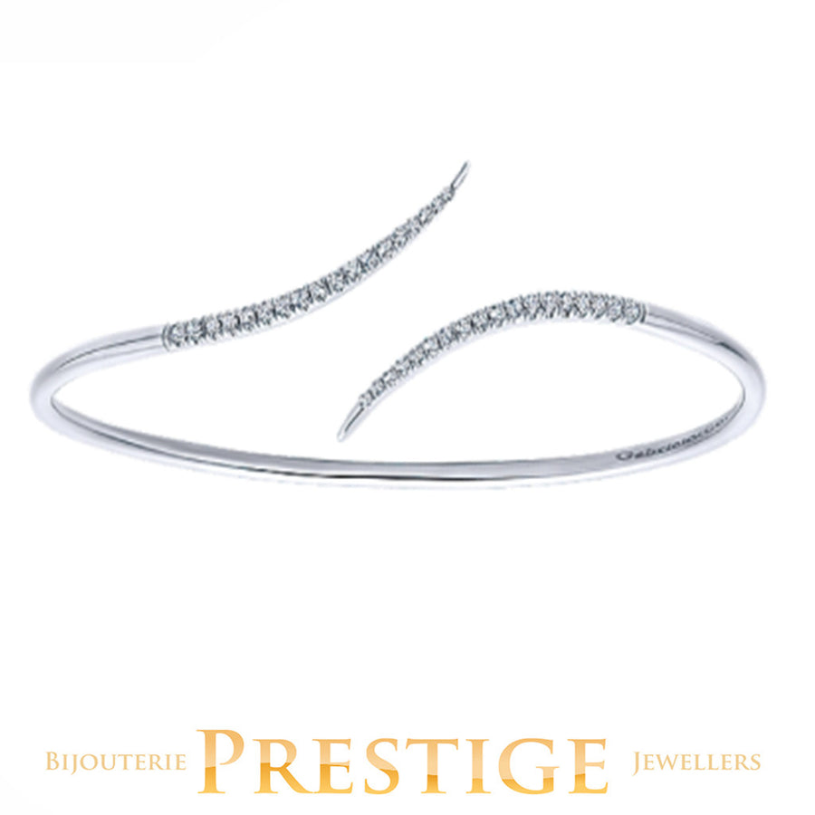 GABRIELNY 14KT WHITE GOLD BYBLOS DIAMOND BANGLE