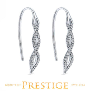 GABRIELNY DIAMOND KASLIQUE EARRINGS 14KT WHITE GOLD