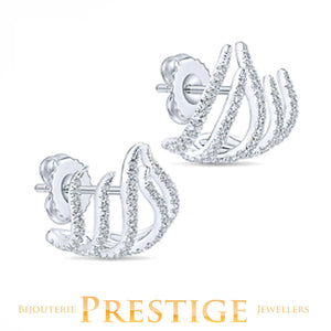 GABRIELNY DIAMOND KASLIQUE STUDS 14KT WHITE GOLD
