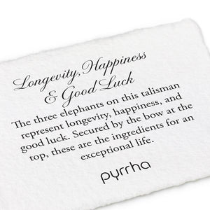 PYRRHA LONGEVITY, HAPPINESS & GOOD LUCK TALISMAN NECKLACE