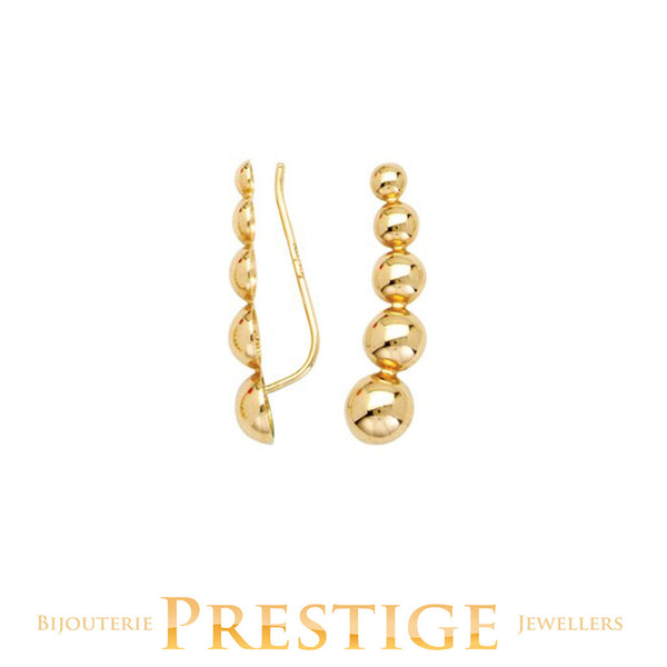 FANCY CRAWLER EARRINGS 14KT YELLOW GOLD